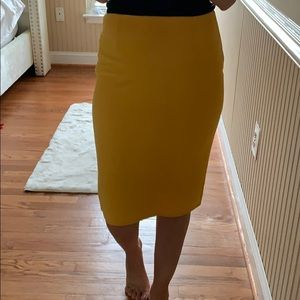 Dresses & Skirts - Mustard pencil skirt